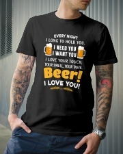 BEER I LOVE YOU Classic T-Shirt lifestyle-mens-crewneck-front-6