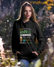 Hops beer Hooded Sweatshirt lifestyle-holiday-hoodie-front-5