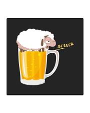 Sheep Beer Square Coaster thumbnail