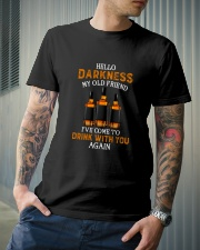 HELLO DARKNESS MY OLD FRIEND Classic T-Shirt lifestyle-mens-crewneck-front-6