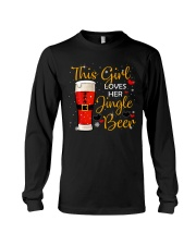 This girl loves her jingle beer Long Sleeve Tee front