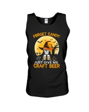 FORGET CANDY JUST GIVE ME CRAFT BEER Unisex Tank thumbnail