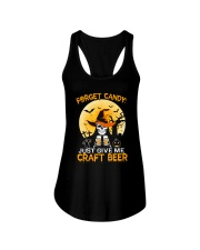 FORGET CANDY JUST GIVE ME CRAFT BEER Ladies Flowy Tank thumbnail