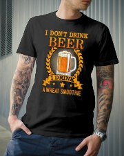 i dont drink beer i drink a wheat smoothie Classic T-Shirt lifestyle-mens-crewneck-front-6