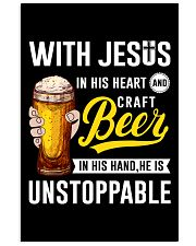 WITH JESUS IN HIS HEART AND CRAFT BEER 11x17 Poster thumbnail