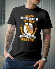 NEVER UNDERESTIMATE AN OLD MAN Classic T-Shirt lifestyle-mens-crewneck-front-6