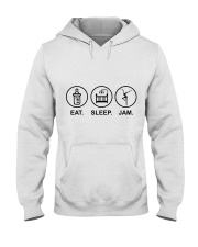 Eat sleep jam Hooded Sweatshirt tile