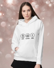 Eat sleep jam Hooded Sweatshirt lifestyle-holiday-hoodie-front-1