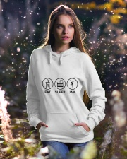 Eat sleep jam Hooded Sweatshirt lifestyle-holiday-hoodie-front-5