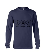 Eat sleep jam Long Sleeve Tee tile