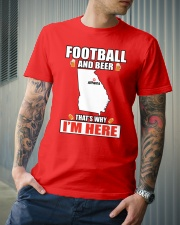 FOOTBALL AND BEER THAT'S WHY I'M HERE Classic T-Shirt lifestyle-mens-crewneck-front-6