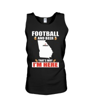 FOOTBALL AND BEER THAT'S WHY I'M HERE Unisex Tank thumbnail