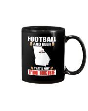 FOOTBALL AND BEER THAT'S WHY I'M HERE Mug thumbnail