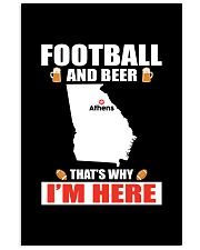 FOOTBALL AND BEER THAT'S WHY I'M HERE 11x17 Poster thumbnail