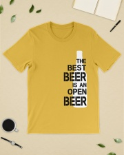 The best beer is an open beer Classic T-Shirt lifestyle-mens-crewneck-front-19