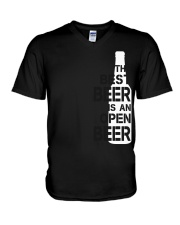 The best beer is an open beer V-Neck T-Shirt thumbnail