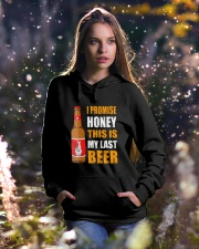I promise honey this is my last beer  Hooded Sweatshirt lifestyle-holiday-hoodie-front-5
