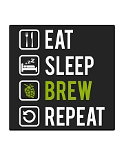 Eat sleep brew repeat Square Coaster tile
