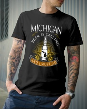 Michigan beer is calling and I must go Classic T-Shirt lifestyle-mens-crewneck-front-6