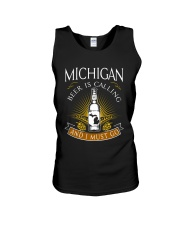 Michigan beer is calling and I must go Unisex Tank thumbnail