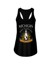 Michigan beer is calling and I must go Ladies Flowy Tank thumbnail
