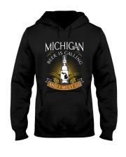 Michigan beer is calling and I must go Hooded Sweatshirt thumbnail