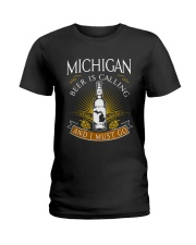Michigan beer is calling and I must go Ladies T-Shirt thumbnail
