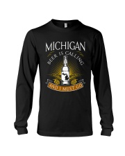 Michigan beer is calling and I must go Long Sleeve Tee thumbnail