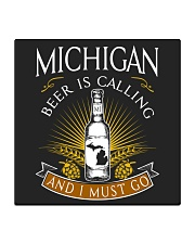 Michigan beer is calling and I must go Square Coaster thumbnail