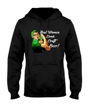 REAL WOMEN DRINK CRAFT BEER Hooded Sweatshirt thumbnail