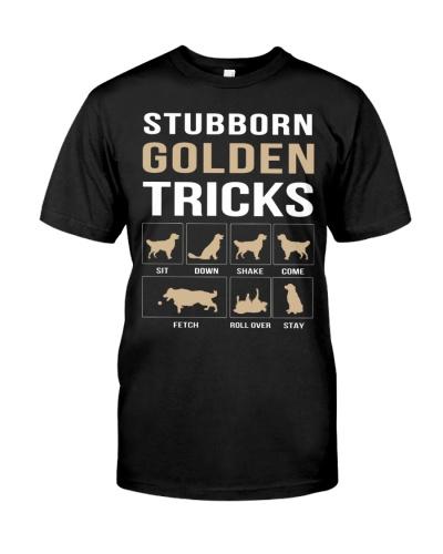 Stubborn Golden Tricks Men-Woman T-Shirt