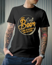 I DRINK CRAFT BEER Classic T-Shirt lifestyle-mens-crewneck-front-6