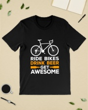 RIDE BIKES DRINK BEER GET AWESOME Classic T-Shirt lifestyle-mens-crewneck-front-19