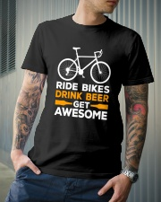 RIDE BIKES DRINK BEER GET AWESOME Classic T-Shirt lifestyle-mens-crewneck-front-6
