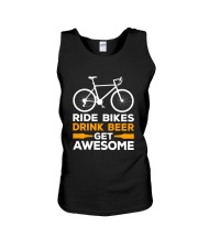 RIDE BIKES DRINK BEER GET AWESOME Unisex Tank thumbnail