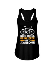 RIDE BIKES DRINK BEER GET AWESOME Ladies Flowy Tank thumbnail