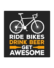 RIDE BIKES DRINK BEER GET AWESOME Square Coaster thumbnail