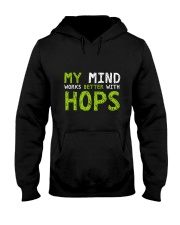 My mind work better with hops Hooded Sweatshirt thumbnail