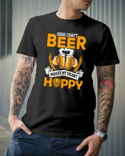GOOD CRAFT BEER MAKES MY HEART HAPPY Classic T-Shirt lifestyle-mens-crewneck-front-6