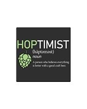 HOPTIMIST Square Magnet thumbnail