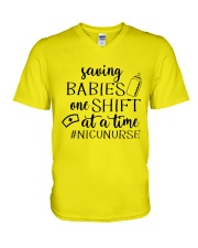 Saving Babies Nicu Nurse V-Neck T-Shirt tile
