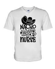 Nacho Average Nurse V-Neck T-Shirt thumbnail