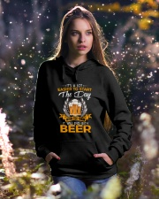 It's a lot easier to start the day when you know Hooded Sweatshirt lifestyle-holiday-hoodie-front-5