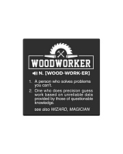 WOODWORKER Square Magnet thumbnail
