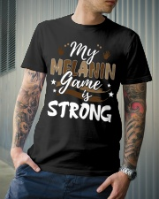My melanin game is strong Classic T-Shirt lifestyle-mens-crewneck-front-6