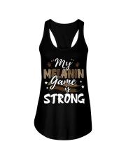 My melanin game is strong Ladies Flowy Tank thumbnail
