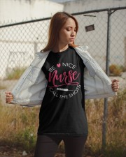 Be Nice Nurse Call The Shots Classic T-Shirt apparel-classic-tshirt-lifestyle-07