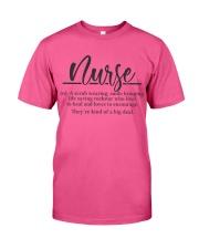 Nurse Definition Classic T-Shirt front