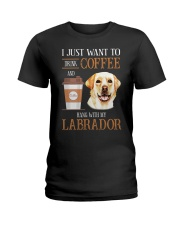 Labrador and Coffee Ladies T-Shirt front
