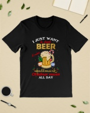 I JUST WANT TO DRINK BEER Classic T-Shirt lifestyle-mens-crewneck-front-19